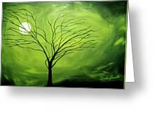 Green Night I Greeting Card