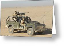 Gurkhas Patrol Afghanistan In A Land Greeting Card