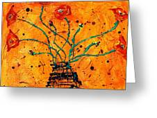 Happy Poppies  Greeting Card
