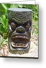 Hawaiian Tiki God Ku Greeting Card
