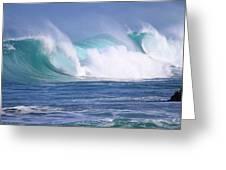 Hawaiian Winter Waves Greeting Card