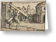 Hercules Carrying The Columns Of Gaza Greeting Card