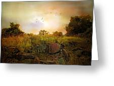 Hilltop Meadow Greeting Card