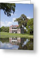 Historic Drayton Hall In Charleston South Carolina Greeting Card