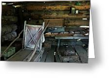 Historic Log Trappers Cabin Greeting Card