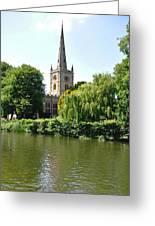 Holy Trinity Church At Stratford-upon-avon Greeting Card