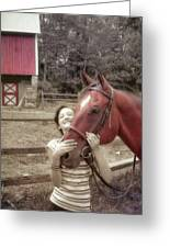 Horse Crazy Greeting Card