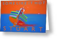 Hot Boat Greeting Card