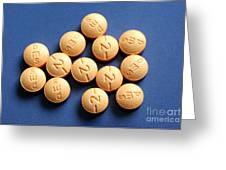 Hydromorphone 2 Mg Tablets Greeting Card