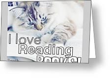 I Love Reading Books Greeting Card