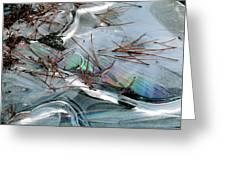 2. Ice Prismatics 1, Slaley Sand Quarry Greeting Card