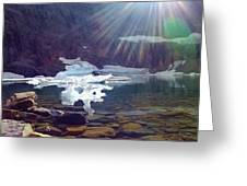 Iceberg Lake Greeting Card