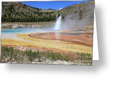 Imperial Geyser, Yellowstone Np Greeting Card