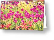 Impressionist Floral Xvi Greeting Card
