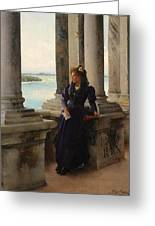 In The Belfry Of The Campanile Of St Marks Venice Henry Woods Greeting Card