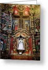 Interior Statue - San Xavier Mission - Tucson Arizona Greeting Card