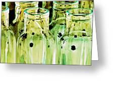 Iridescent Bottle Parade Greeting Card