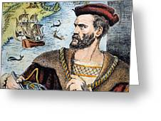 Jacques Cartier (1491-1557) Greeting Card