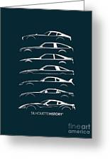 Japanese Sports Car Silhouettehistory Greeting Card