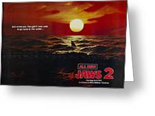 Jaws 2 1978  Greeting Card