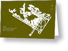 Jfk John Fitzgerald Kennedy International Airport In New York Ci Greeting Card