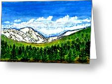 jGibney Breckenridge CO 1999art300dpi18-9M jGibney Greeting Card