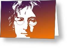 John Lennon The Legend Greeting Card