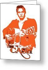 Johnny Cash The Legend Greeting Card