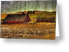 Johnson Road Barns Greeting Card