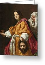 Judith Holding The Head Of Holofernes Greeting Card