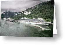 Juneau Alaska Usa Northern Town And Scenery Greeting Card