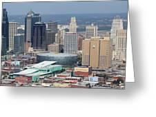 Kansas City Skyline Panorama Greeting Card