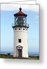 Kilauea Lighthouse On Kauai Greeting Card