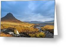 Kirkjufell. Greeting Card