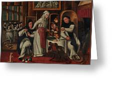 Kitchen In A Convent Greeting Card