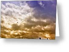 Kite Flying Greeting Card by David Patterson