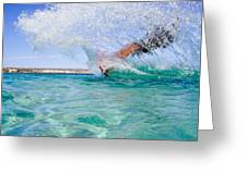 Kitesurfing Greeting Card by Stelios Kleanthous