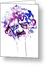 Kurt Vonnegut Greeting Card by Alexandra-Emily Kokova
