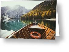 Lago Di Braies Greeting Card