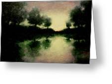 Lagoon At Sunset Greeting Card