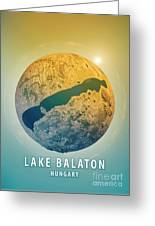 Lake Balaton 3d Little Planet 360-degree Sphere Panorama Greeting Card