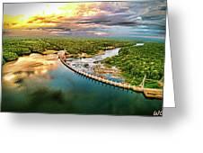 Lake Jordan Dam Greeting Card