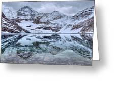 Lake Mcarthur Reflection Panoramic Greeting Card