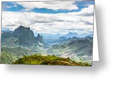 Landscape Around Kasi In North Laos Greeting Card