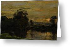 Landscape With Ducks Greeting Card