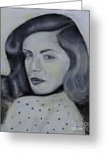 Lauren Bacall Greeting Card