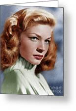 Lauren Bacall, Vintage Actress Greeting Card