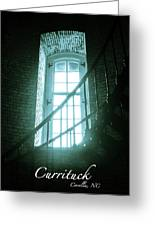 Light Through The Currituck Window - Text Greeting Card