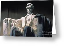 Lincoln Memorial: Statue Greeting Card