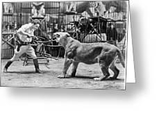 Lion Tamer, 1930s Greeting Card
